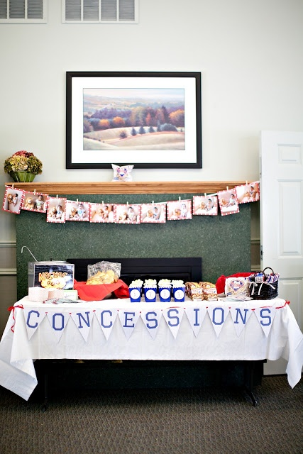 Concessions sign for food table at a baseball Birthday Party!