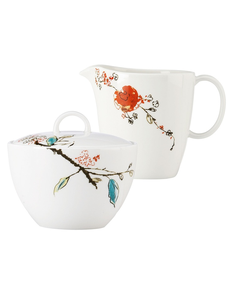 Lenox Chirp sugar and creamer set $80 (when on sale)