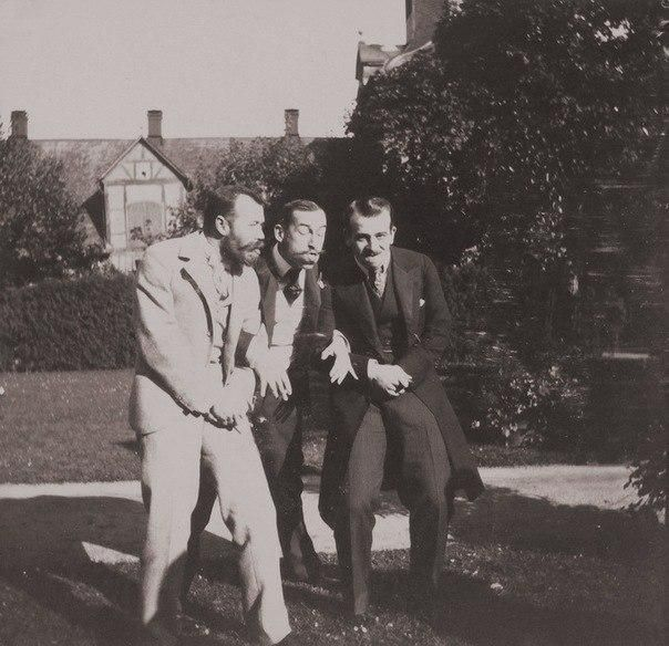 Tsar Nicholas II Clowning Around with Friends Retronaut | Retronaut - See the past like you wouldnt believe.  I love these.