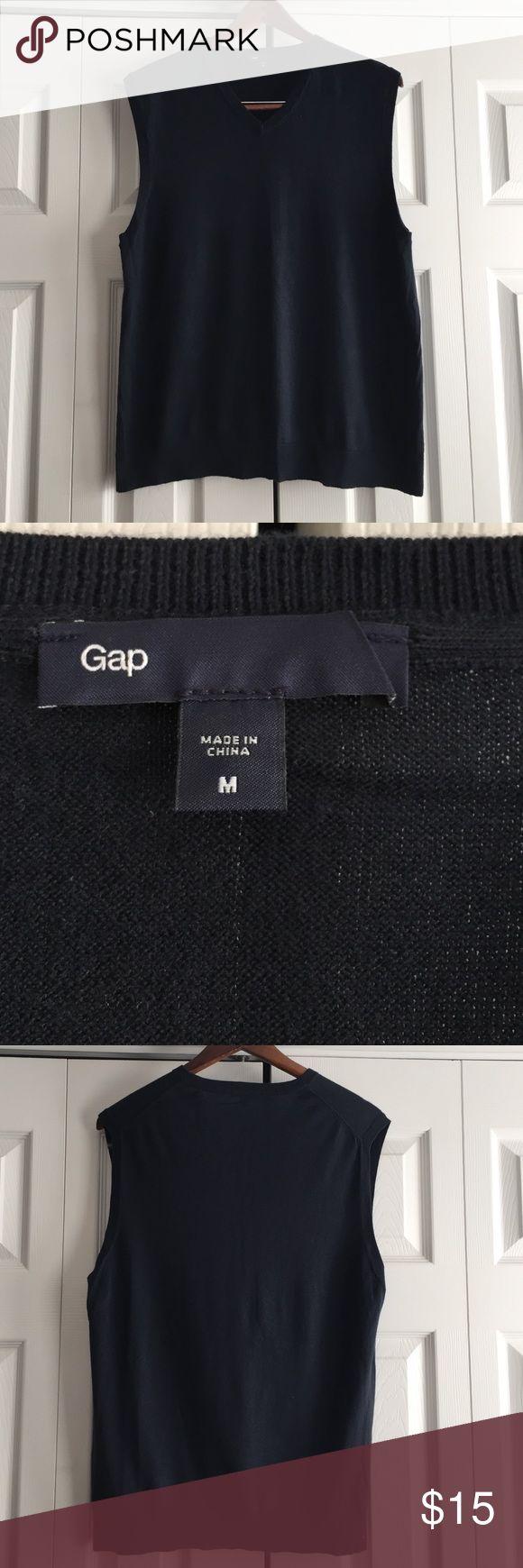 GAP Men's Navy Sweater Vest NWOT Never Worn, Men's Navy Sweater Vest. Light Weight 100% Cotton. GAP Jackets & Coats Vests