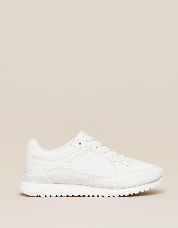 Urbano Zapatos Blanco Pull Deportivo Amp;bear Mujer 6uwqn1ng 5cA3jL4Rq