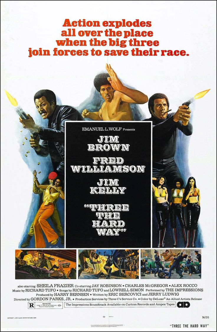 Three The Hard Way (1974) starring Jim Brown, Fred Williamson & Jim Kelly