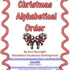 Christmas ABC OrderWriting Challenge