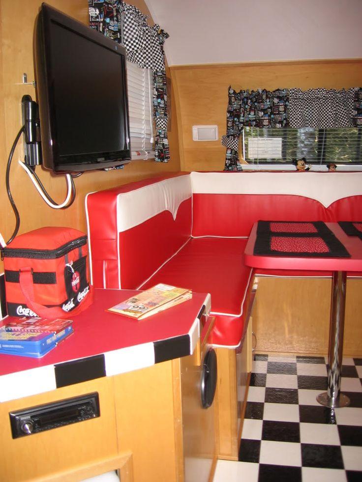 vintage trailer interior photo 2010 homemade interior camper ideas pinterest vintage trailers. Black Bedroom Furniture Sets. Home Design Ideas