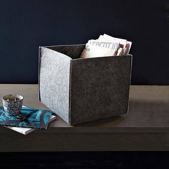 Caisses en feutrine de 40 cm sur 40, en feutre,Si vous souhaitez les réaliser, le plus simple est de trouver du feutre de grande dimension et de le découper en suivant le gabarit (à télécharger)