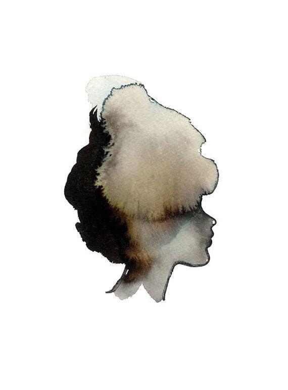 Lady Silhouette Art stampa 5 x 7 di courtneyoquist su Etsy