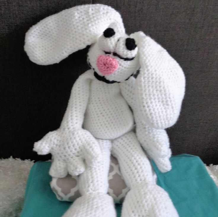 The Crazy White Rabbit is Here!! by ZippityZooToys on Etsy