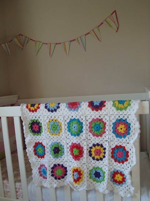 Beautiful Crochet Blanket | Sophie Slim | #mycreativespace: Crochet Blankets, Granny Square Blanket, Crafty Capers, Squares Blankets, Baby Room, Granny Squares, Crafty Crafts, Crafts Studios, Cot Blankets