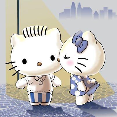 #HelloKitty and #DearDaniel share a sweet kiss