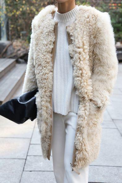 fall fashion all white  FASHMENT.COM