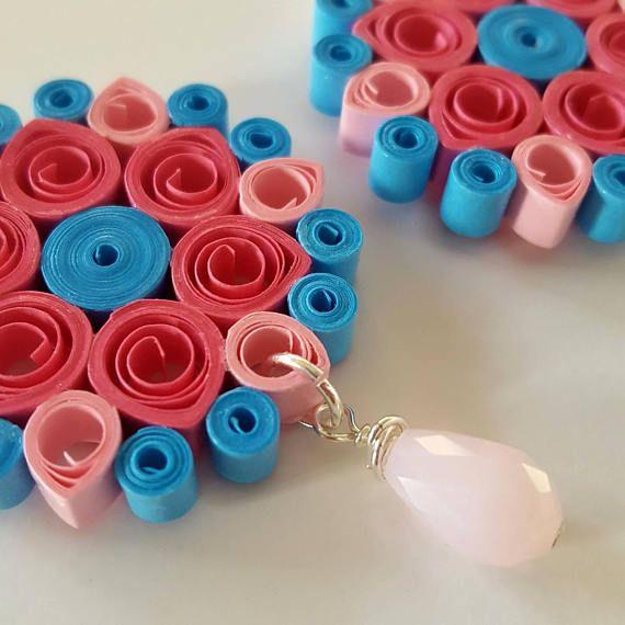 Guarda questo articolo nel mio negozio Etsy https://www.etsy.com/it/listing/565596745/orecchini-di-carta-quilling-mandala-rosa