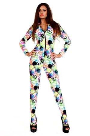 Minaj Peace Catsuit www.contagiousclubwear.com Fancy Dress Nicki Minaj