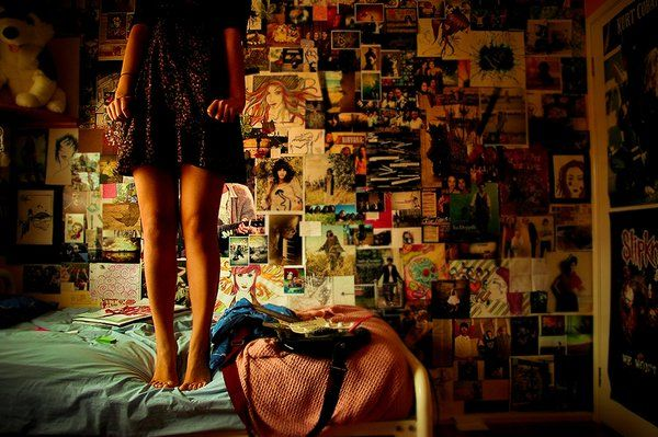 All those pictures on the wall...beautiful images of a busy mind.