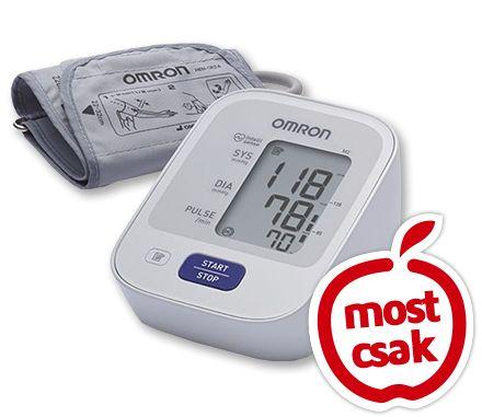 OMRON M2 automata, felkaron működő vérnyomásmérő 1x. Klinikai pontosság. Intellisense technológia – gyors, kényelmes felfújás, személyre szabott  vérnyomásmérés. Szabálytalan szívritmus és helyes mandzsettafelhelyezés kijelzése. Orvostechnikai eszköz: A kockázatokról olvassa el a használati útmutatót, vagy kérdezze meg kezelőorvosát! EP kártyára kapható. Akciós ár: 10999 Ft