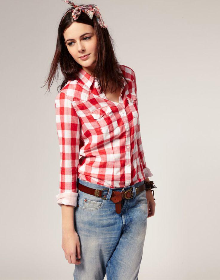 Красная рубашка в клетку (56 фото): с чем носить, красная с черным, синим, белым, длинная, фланелевая