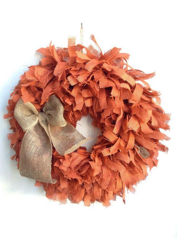 26 Fall Wreath Fall Burlap Wreath Autumn Wreath