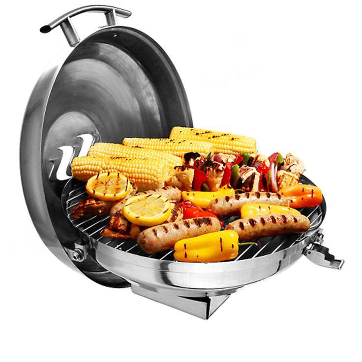 "Kuuma Charcoal Kettle Grill - 175"" Surface - Stainless Steel MFG# 58103"
