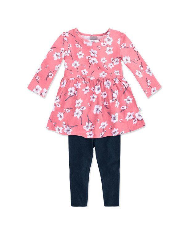feb448033 Conjunto bebê menina com vestido de moletom manga longa hering kids na Hering  Kids