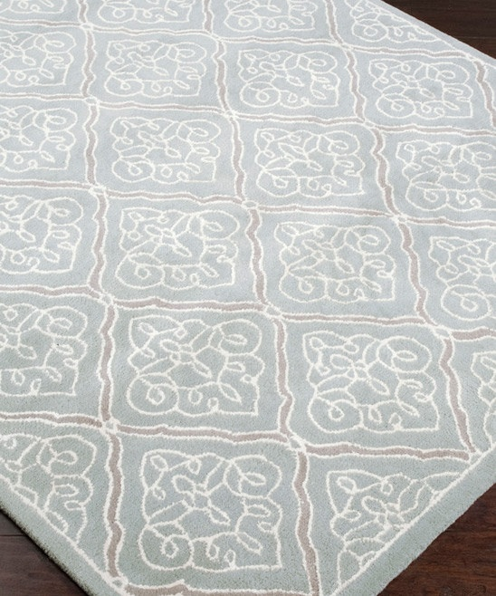 Pale Blue White Modern Clics Rug By Candice Olsen For Surya
