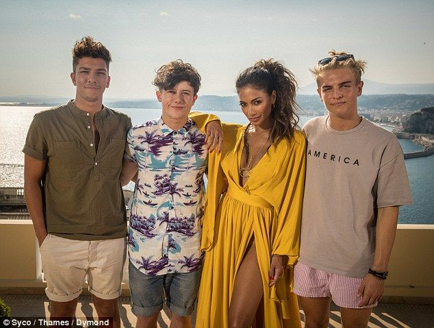 She's got a vision: Nicole Scherzinger stayed clear of odd-balls and wild-cards as she picked out (L-R) Matt Terry, Ryan Lawrie and Freddy Parker for her final three in the Boys category