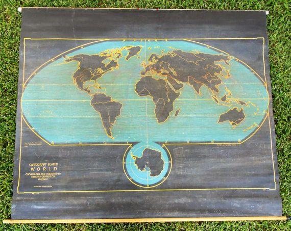 Vintage chalkboard world map by clevelandparkvintage on etsy vintage chalkboard world map by clevelandparkvintage on etsy licensing inspo pinterest vintage chalkboard chalkboards and vintage gumiabroncs Gallery
