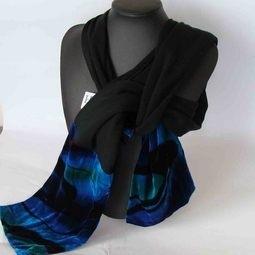 Glamorous New Zealand Merino and Velvet Scarf