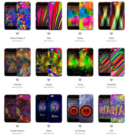 Personalize, Protect and Decorate your devices with Skins and Cases by Steel Graphics