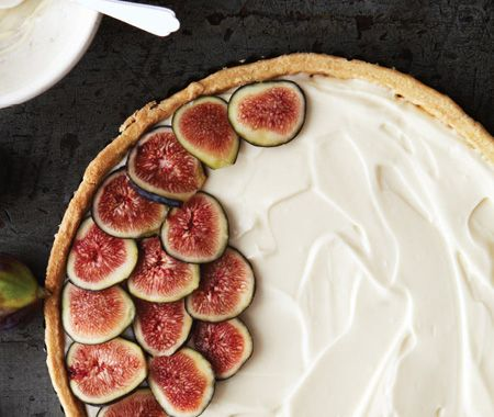 Mascarpone & Fig Tart Recipe - This looks amazing, but I think I'll find a crust incorporating ground almonds.