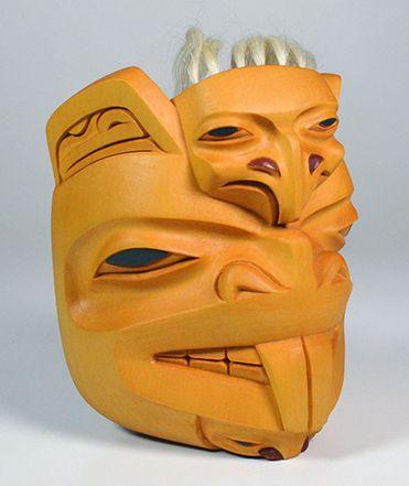 Beaver Crest Mask by Dempsey Bob, Tahltan, Tlingit artist (X150204)