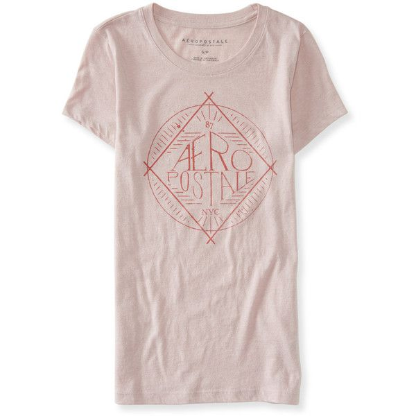 Aeropostale Aéropostale Diamond Graphic T ($2.99) ❤ liked on Polyvore featuring tops, t-shirts, frosty pink, cotton t shirts, boho style tops, relaxed fit tee, relax t shirt and bohemian tops
