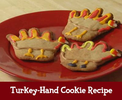 "Let kids give you a ""hand"" in the kitchen while making this tasty Thanksgiving treat!"