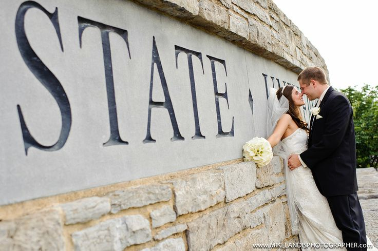 This would be adorable if the bride and groom met at Penn State or something.