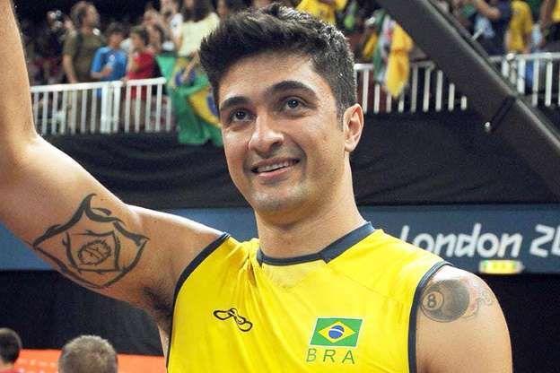 O jogador de vôlei Leandro Vissotto