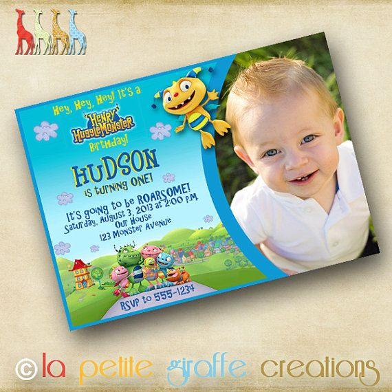 The PERFECT invitation for a Henry Hugglemonster Birthday Party!