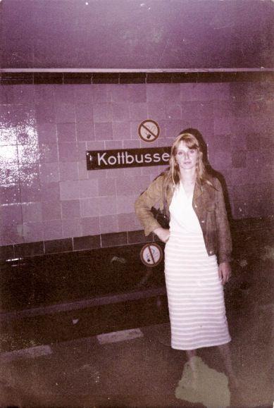 ☢ Christiane Felscherinow in early 00's in Kottbusser Tor.