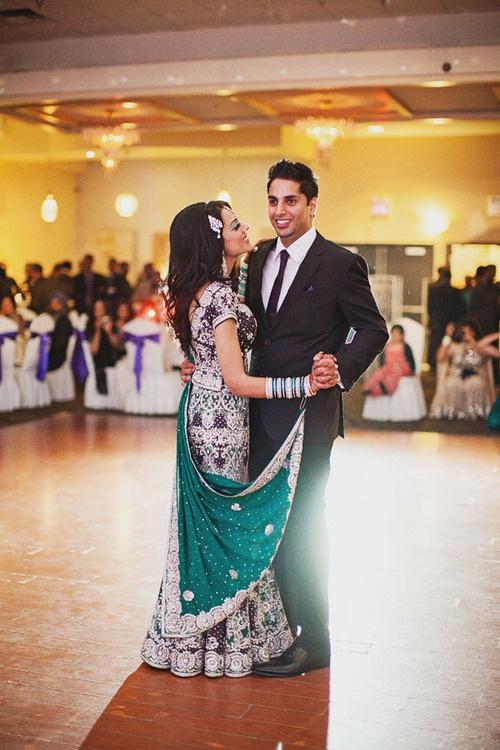lovely desi couple on the dance floor