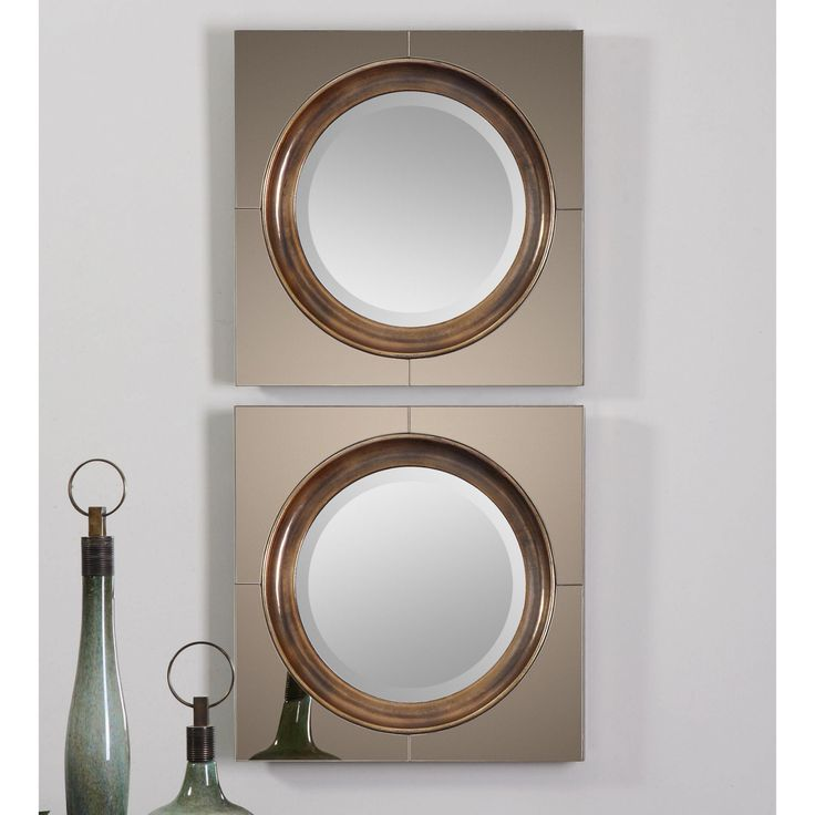 Uttermost Gouveia Contemporary Mirror - 20W x 20H in. - 12855