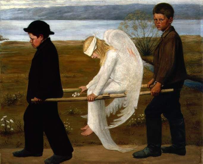 Haavoittunut enkeli/ Wounded angel - Hugo Simberg, 1903
