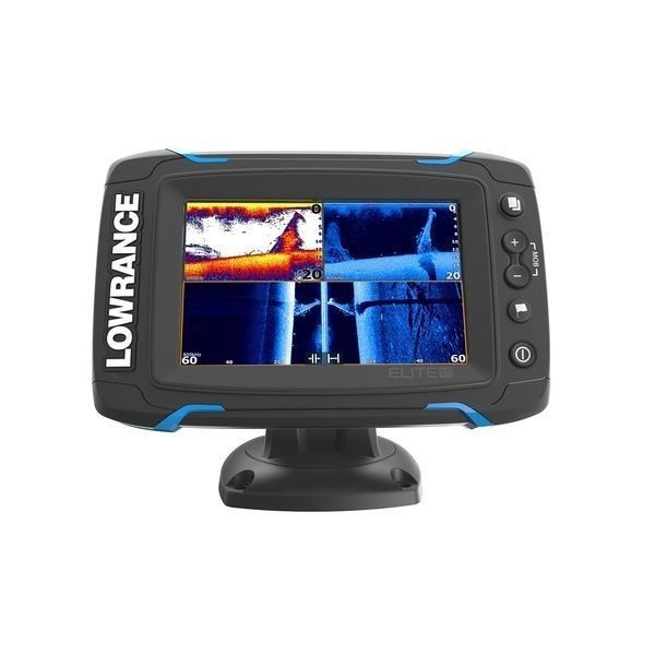 Lowrance Elite-5 Ti Med/High CHIRP Sonar GPS Fishfinder/Chartplotter w/ Xducer - Use Code PERFECTSTART At Checkout for 20% OFF ($50 MAX) #fishfinder #chartplotter #xducer #sonar #chirp #elite #high #lowrance