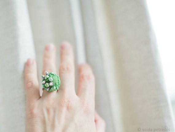 Gift for her under 50 USD Statement ring modern by FeltStudioVART