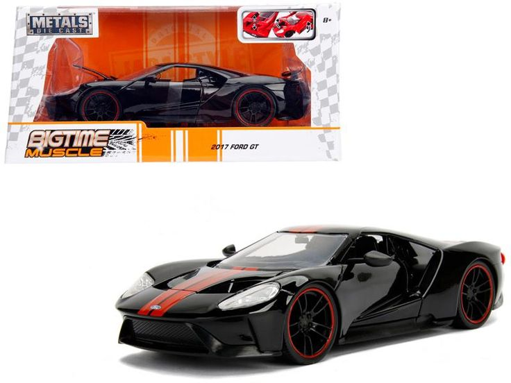2017 Ford GT Black with Red Stripes or Red with Black Stripes 1/24 Diecast Model Car by Jada