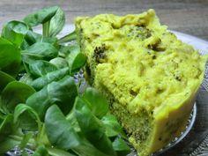 Petit flan salé au brocoli cuit à la vapeur douce sans gluten et sans lactose