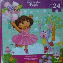 This fun Dora the Explorer puzzle will delight your little Dora fan as Boots and Dora appear to move!  24 pieces Age: 3 years +