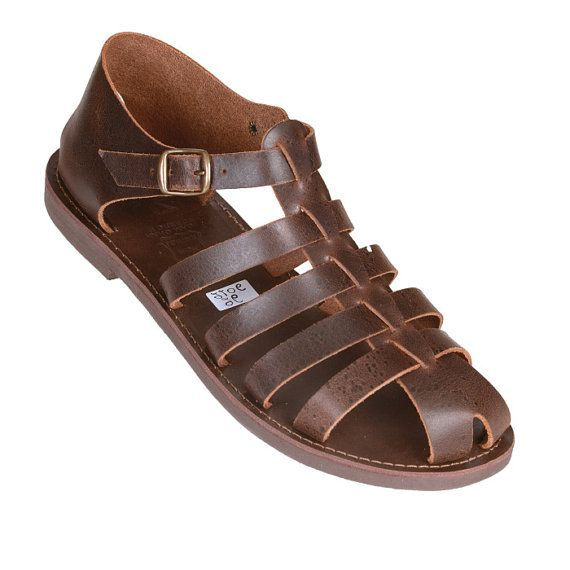 Nuevo Sandalias de cuero griego antiguo del hombre