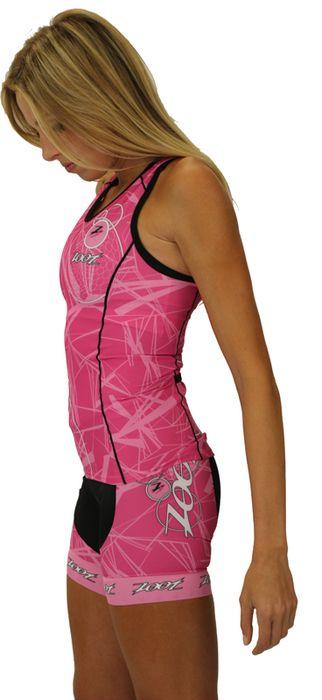 "Women's Ultra Tri BCRF 6"""" Tri Shorts by Zoot Sports"
