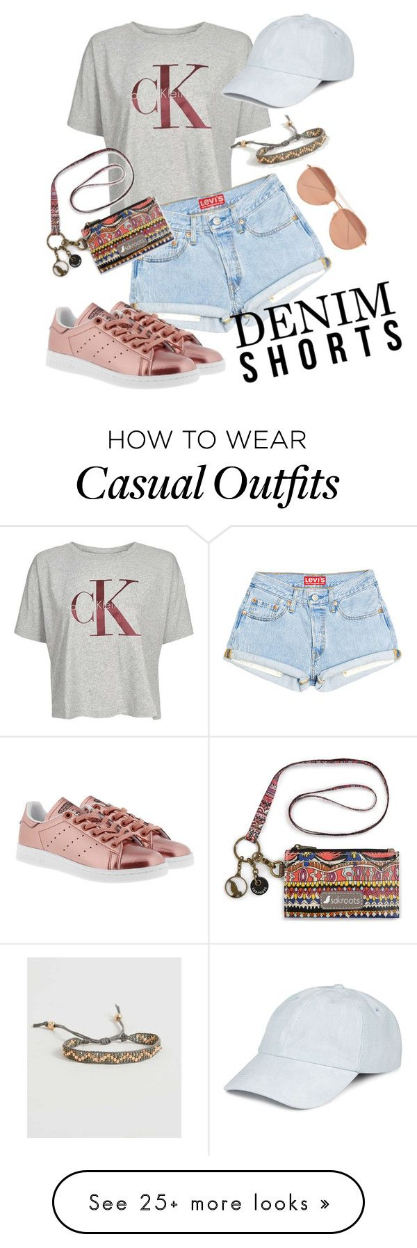 """""""Casual summer day"""" by hkcrist on Polyvore featuring Calvin Klein, adidas Originals, BKE, Celebrate Shop and Linda Farrow"""