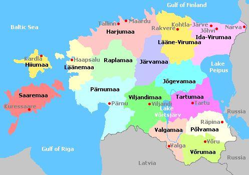 Tallinn, Harjumaa | Estonia and departments map, Carte des départements de la région ...