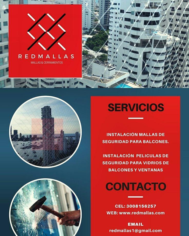 Cel. 3008156257 www.redmallas.com Red Mallas especialistas en instalación de Mallas certificadas y Películas de Seguridad para balcones y ventanas.  Protege a los que más quieres! Toma de medidas sin costo. Mallas certificadas. Cualquier Medio de pago 💳💳💳 ¡Llámanos!  www.redmallas.com Email. redmallas1@gmail.com  Facebook @Redmallasctg #redmallas #Cartagena #seguridad #protección #mallasdeseguridad #peliculasdeseguridad #Mallasparabalcones #Mallasparaventanas #Mallasdeseguridad…