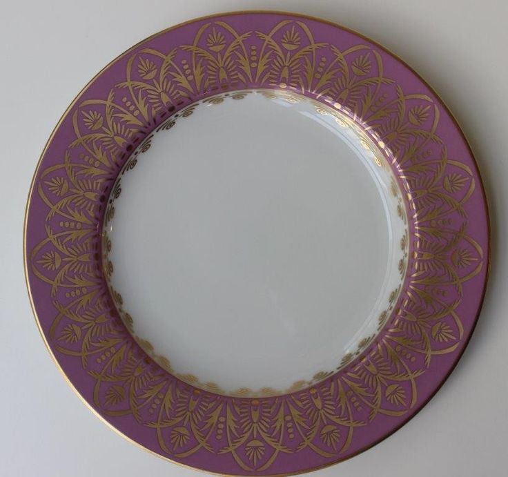 "Royal Limoges Oasis Purple Dinner Plate 10.5""D - Oasis Purple - Royal Limoges - Shop by Designer"