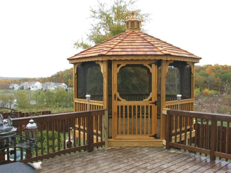 10 best images about gazebo on pinterest wood decks for Deck with gazebo